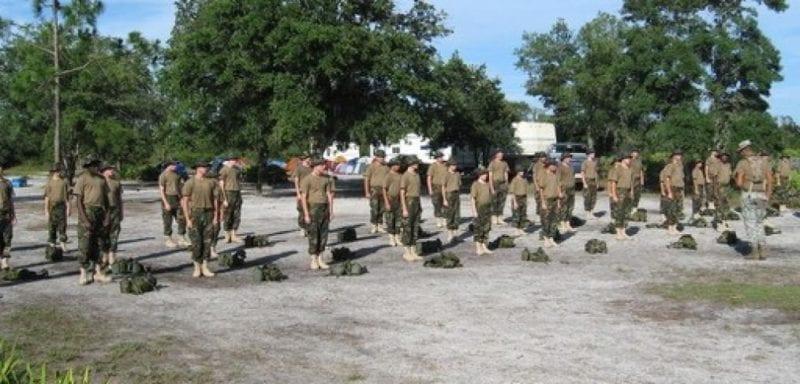 teens at boot camp