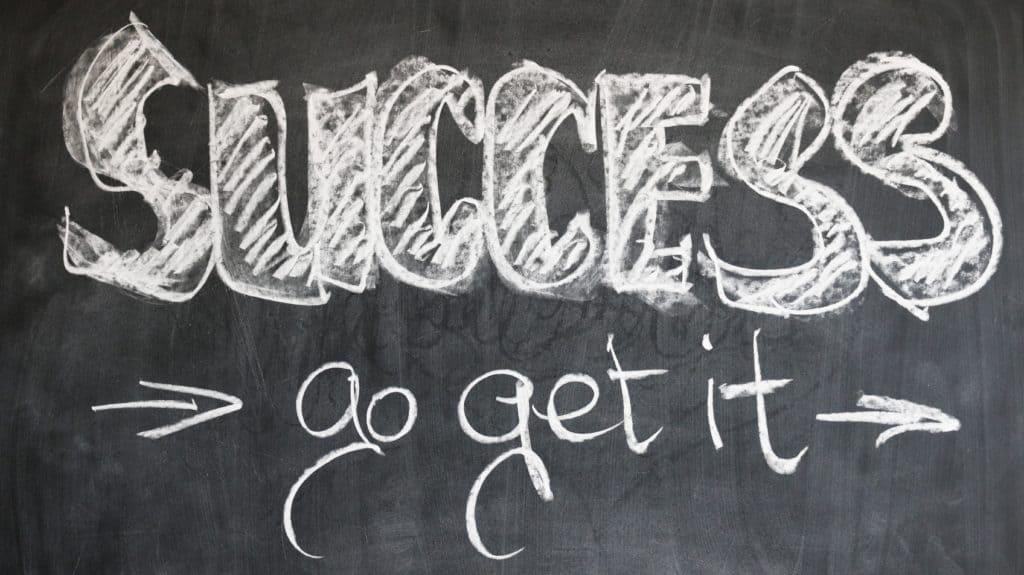 success written on board